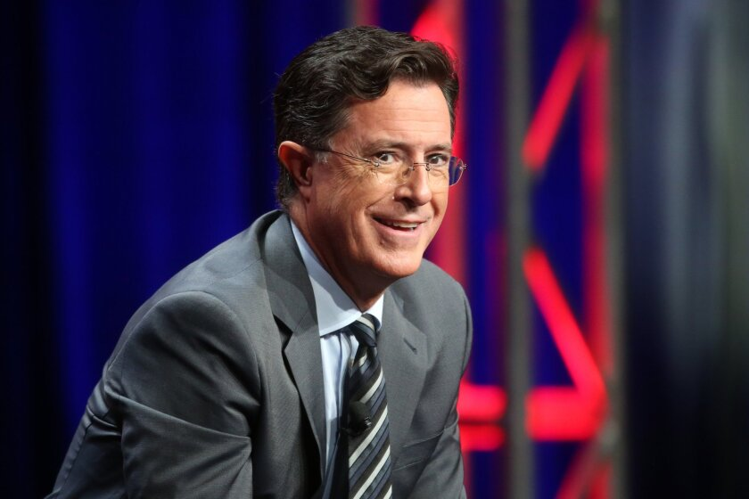 """Host, executive producer and writer Stephen Colbert makes his """"Late Show"""" debut on Sept. 8."""