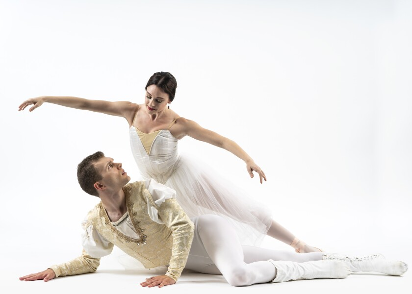 """Romance En Pointe"" dancers Stephanie Maiorano and Adam Bloodgood."
