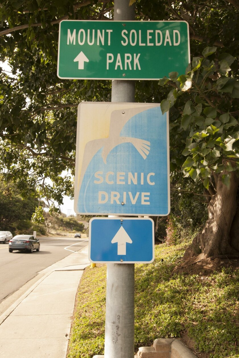 Follow the signs to Mount Soledad Park.