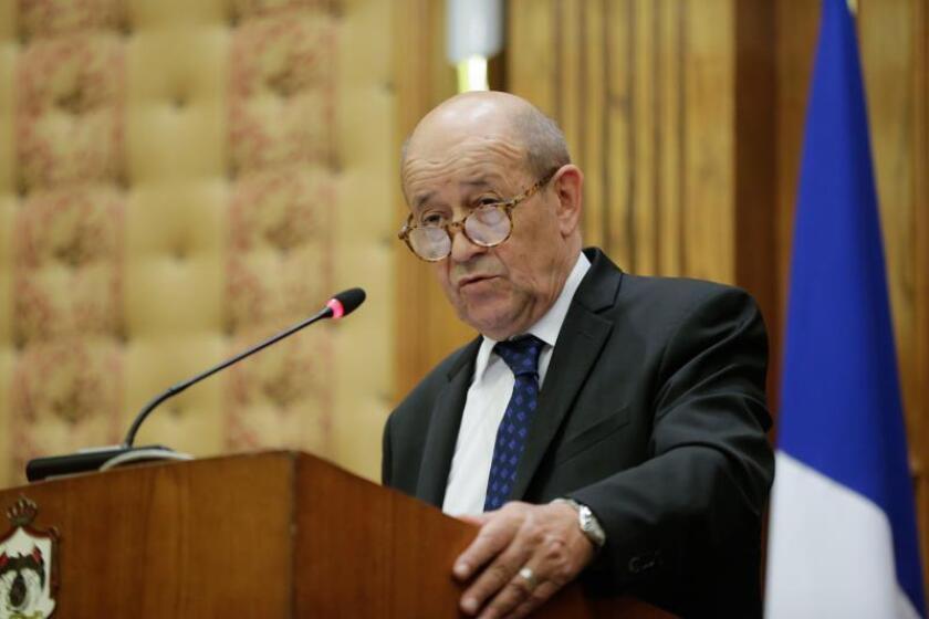 El ministro francés de Asuntos Exteriores, Jean-Yves Le Drian. EFE/Archivo