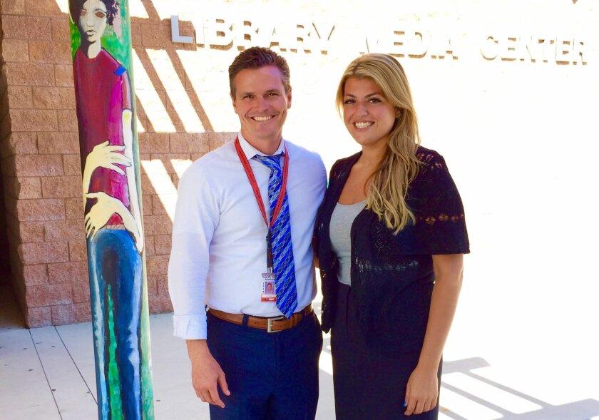 CCA Principal Karl Mueller with Assistant Principal Jennifer Sayegh. Courtesy photo