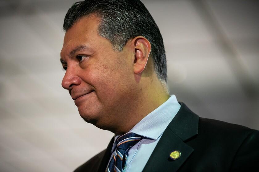 Alex Padilla of California was sworn in as California's first Latino U.S. senator.