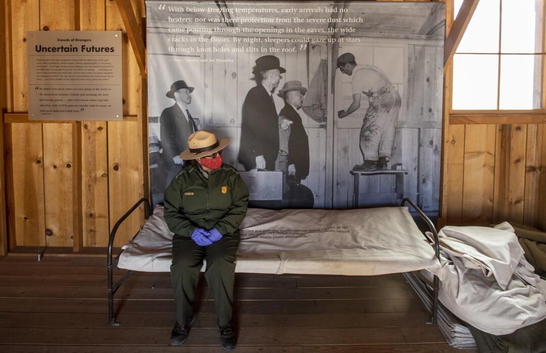 Manzanar National Historic Site Supt. Bernadette Johnson inside a restored schoolhouse on the former internment camp.