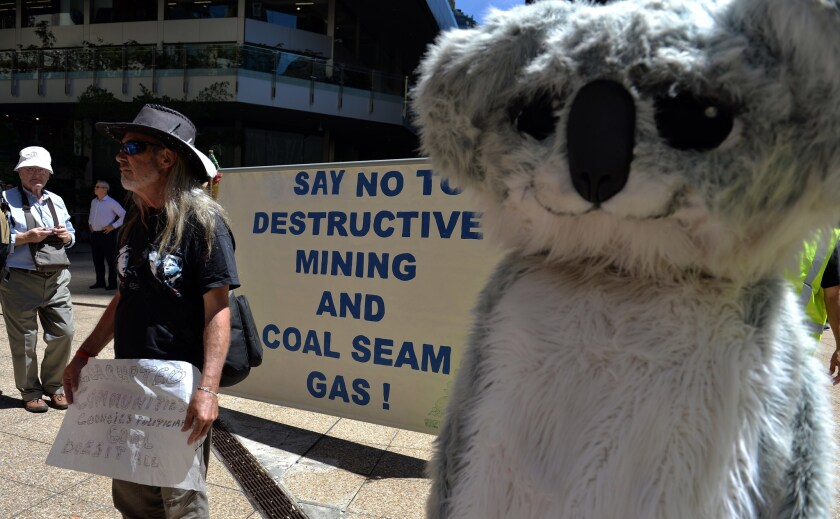 AUSTRALIA-PROTEST-COAL-MINE