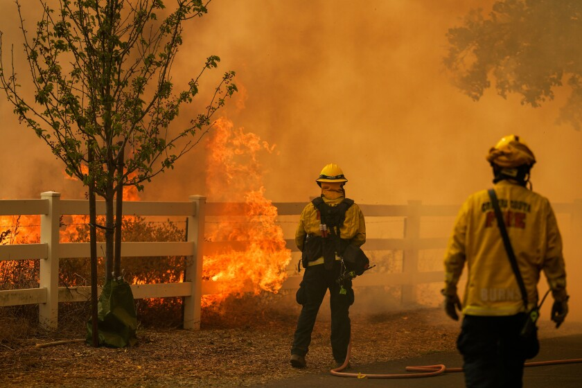 Firefighters battle flames in Vacaville