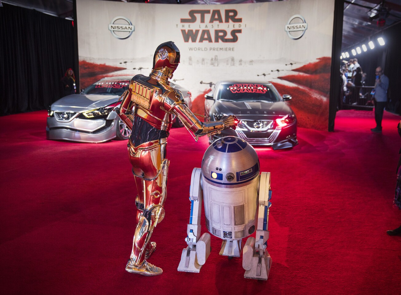 IMAGE DISTRIBUTED FOR NISSAN - Andy Serkis arrives at the World Premiere of Stars Wars The Last Jedi where film partner Nissan showcased their interpretation of character vehicles on Saturday, Dec. 9, 2017 in Los Angeles. (Photo by Colin Young-Wolff/Invision for Nissan/AP Images)