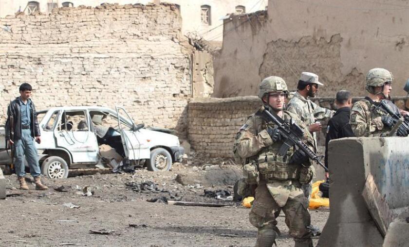Tropas del país y afganas tomaron recientemente la ciudad oriental de Gurgoray, el principal bastión del grupo Estado Islámico (EI) en Afganistán, en una operación en la que murieron 167 yihadistas, informaron hoy fuentes de la alianza. EFE/Archivo