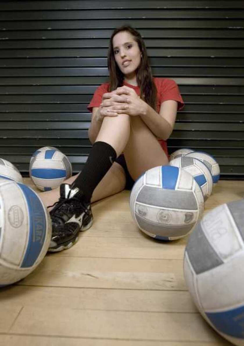 Burbank High senior Sarah Tubert is an all-league honoree in girls' volleyball and water polo.