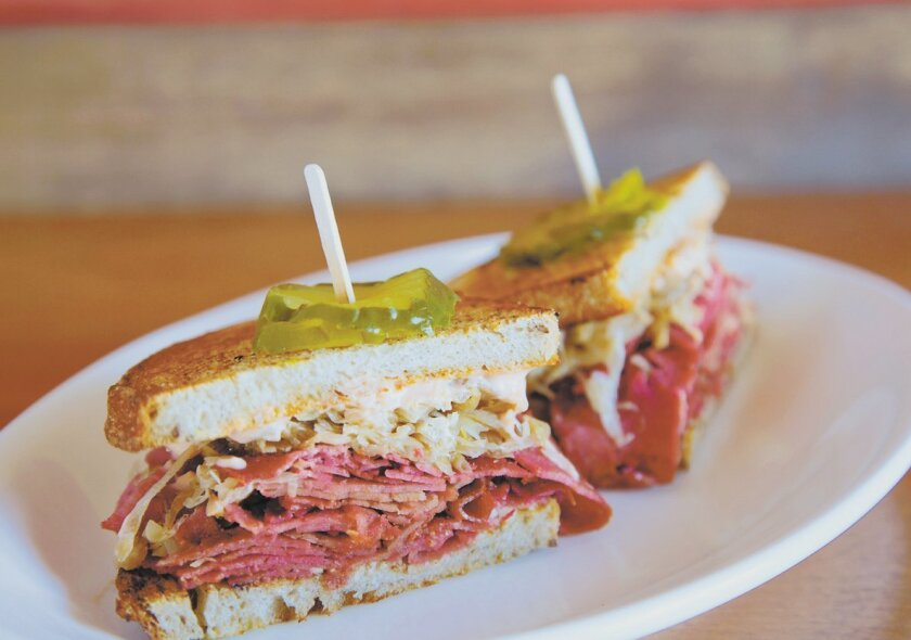 Native Foods Classic Deli Reuben is made with seitan.