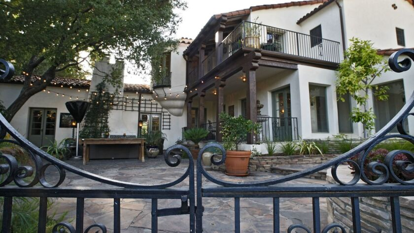 Desiree and Al Shier's Spanish Colonial Revival house, in the Rossmoyne neighborhood of Glendale on