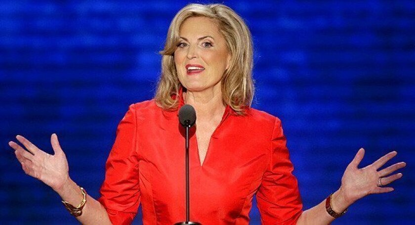 Ann Romney, wife of presidential candidate Mitt Romney, addresses the Republican National Convention.