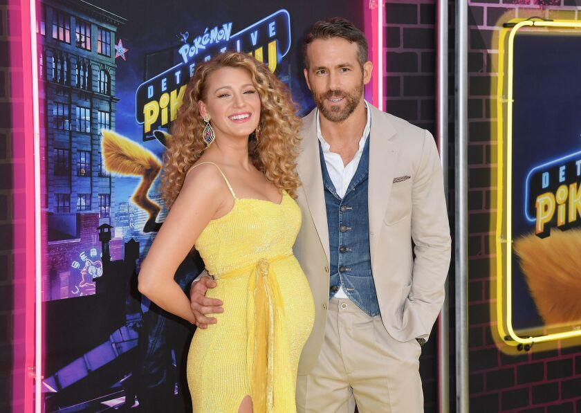 Actors Blake Lively and Ryan Reynolds