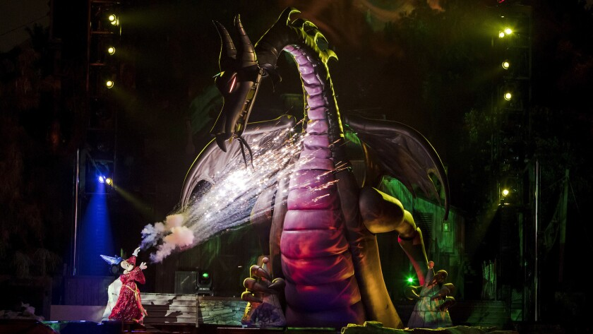 """Fantasmic"" returns to Disneyland after a hiatus with new characters and technological improvements."