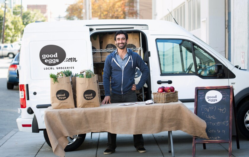 Customers can order online and have local food delivered by Good Eggs.
