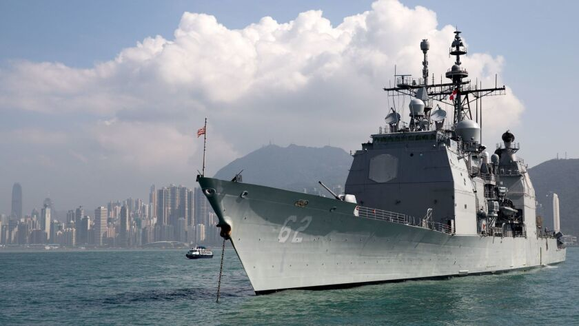 US and Russian warships 'nearly collide' in Philippine Sea, Hong Kong, China - 21 Nov 2018