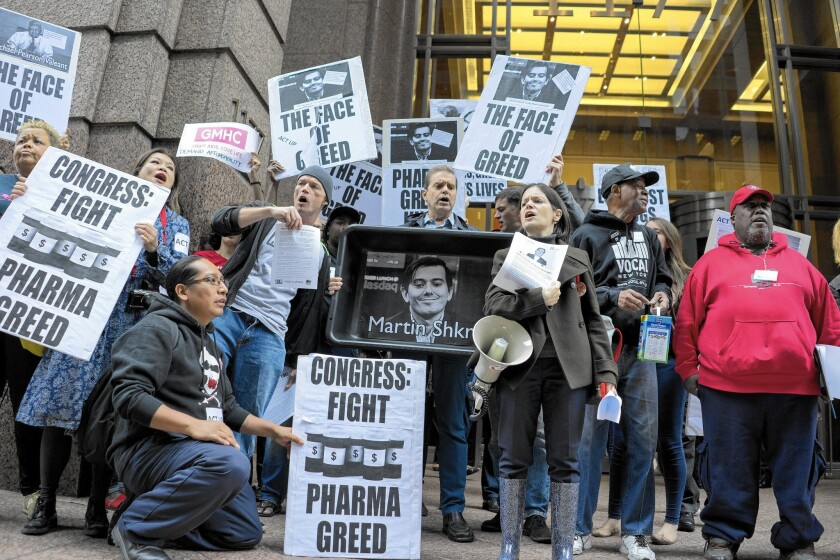 Daraprim price hike protested