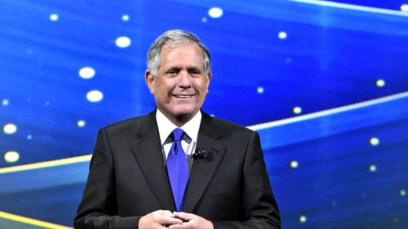 The broadcast networks will be back in New York with their 2018-19 lineups this week to kick off the annual upfront sales market. Above, CBS Chairman Leslie Moonves presents his network's prime-time schedule.