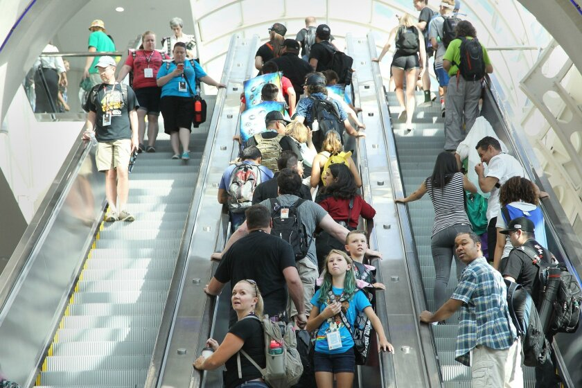Comic-Con can no longer fit all of its programming within the city's convention center and opposes any effort to expand the center blocks away off the waterfront.