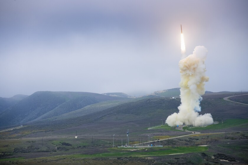 Pentagon successful with latest missile-defense test off Pacific