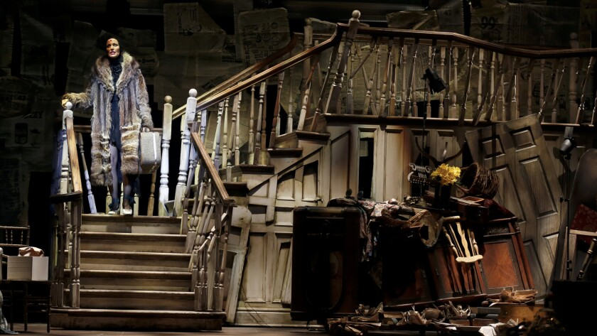 "Rachel York stars in the musical ""Grey Gardens,"" at the Ahmanson Theatre."