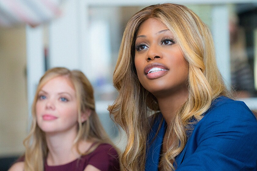 """Laverne Cox, right, and Dreama Walker in the upcoming CBS show """"Doubt."""""""