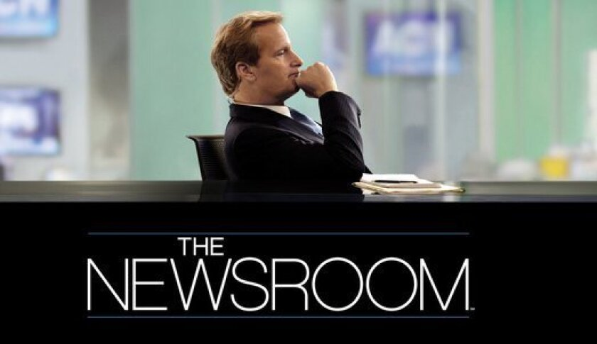 "Jeff Daniels stars as the lead anchor on the fictional Atlantis Cable News network on HBO's ""The Newsroom""."