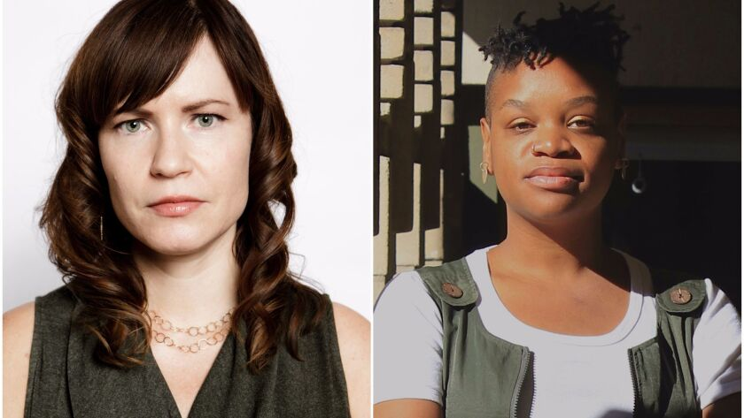 """Hammer senior curator Anne Ellegood, left, and independent curator Erin Christovale will organize the museum's next """"Made in L.A."""" biennial."""