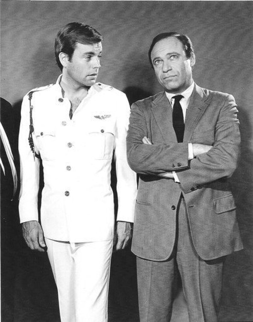 """Malachi Throne, right, and Robert Wagner in the 1960s TV series """"It Takes a Thief."""""""
