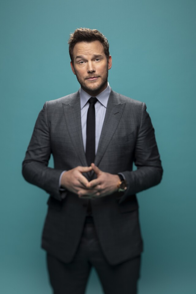 """Chris Pratt, who played Andy Dwyer on NBC's """"Parks and Recreation,"""" at PaleyFest."""