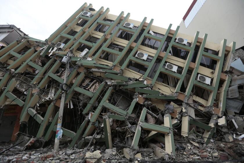 Earthquake damage in Ecuador
