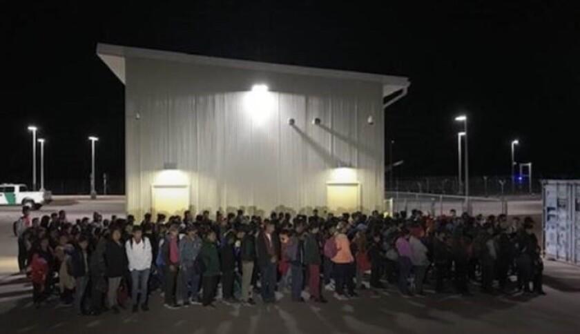 Migrantes detenidos en Nuevo México