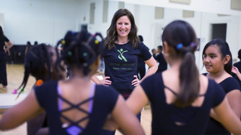 Jennifer Oliver, artistic director for Escondido-based A Step Beyond, an organization that provides underserved youth with opportunities through dance education, academic support and family services.
