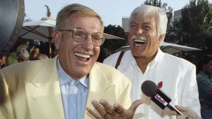 Brothers Jerry, left, and Dick Van Dyke in 1992. Comic actor Jerry died Jan. 5.