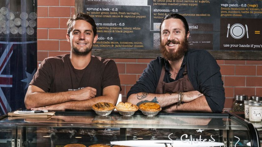 Pie-Not owners Ryan Lopiccolo and Jai Snowdon will expand its Aussie pie shop with home delivery thr