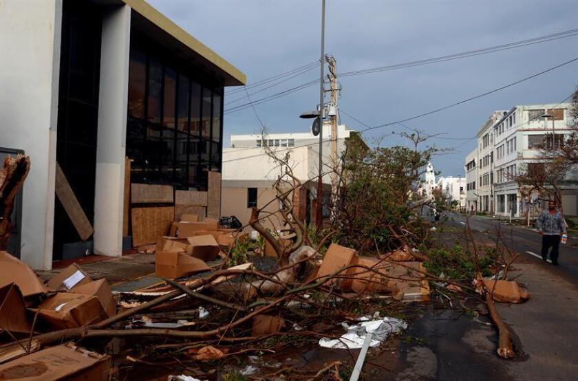 Vista de los daños causados por el huracán María a su paso por San Juan (Puerto Rico). EFE/Archivo