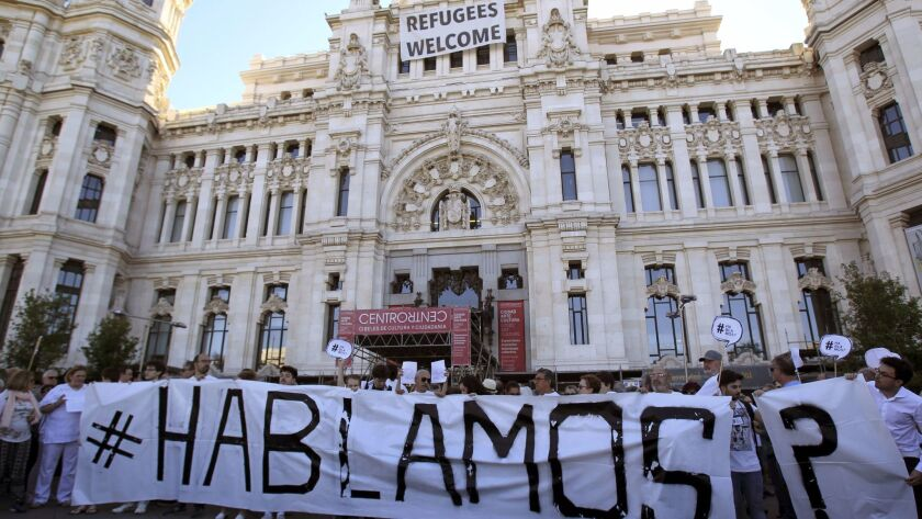 Call for dialogue after the Catalan Independence Referendum, Madrid, Spain - 07 Oct 2017