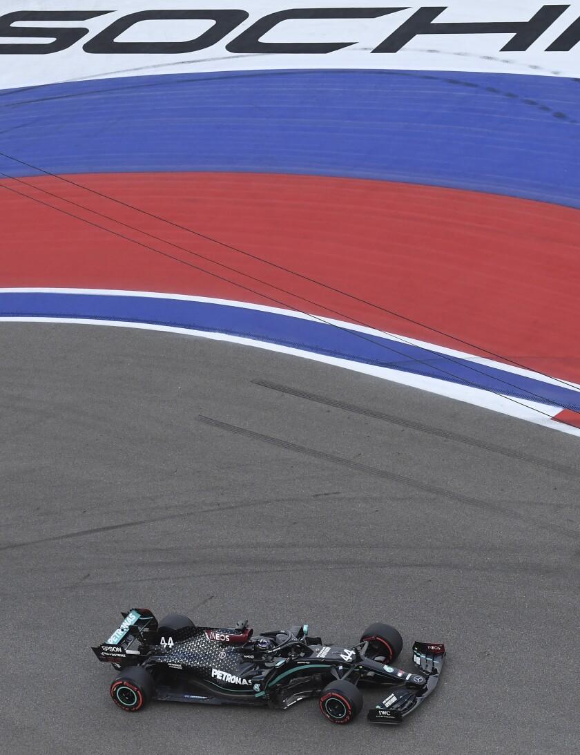El piloto de Mercedes, el británico Lewis Hamilton