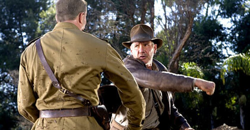 NINETEEN YEARS LATER: Ford's Indiana Jones has moved into the 1950s but remains a college professor with the same sense of fashion and, of course, adventure.