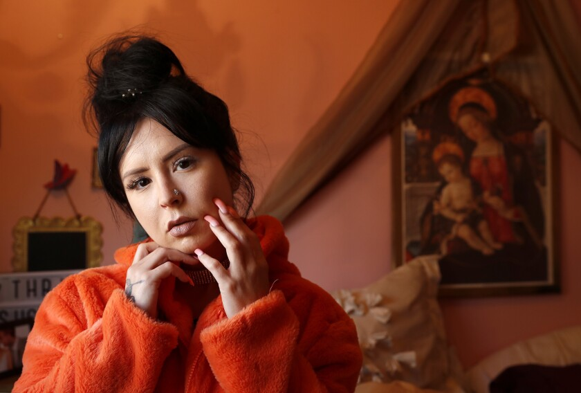 LOS ANGELES, CA-APRIL 12, 2018: Rapper Sirah is photographed at her home in Los Angeles on April 12