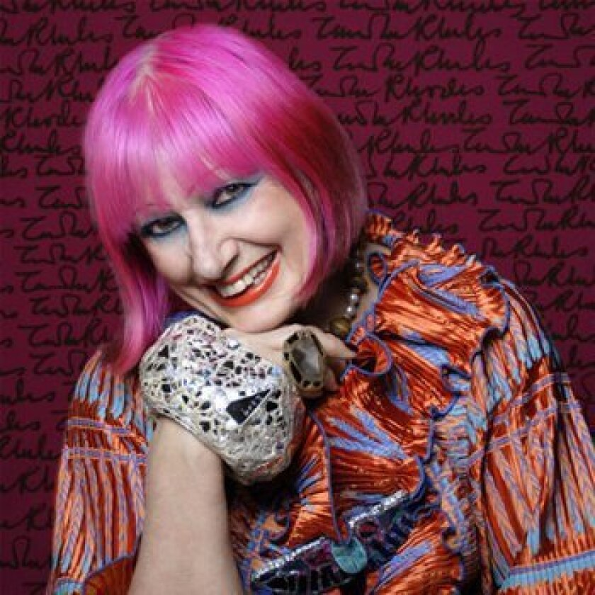 Fashion designer Zandra Rhodes