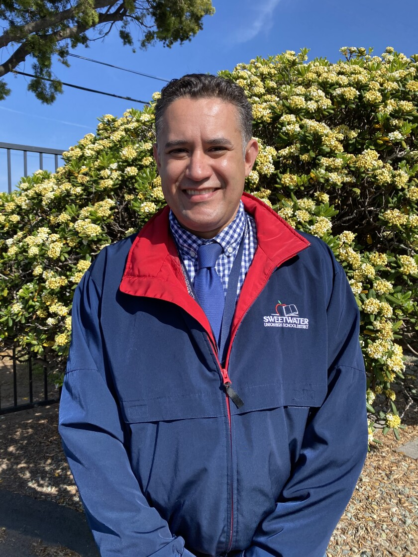 Moisés Aguirre was appointed as the superintendent on Monday night.