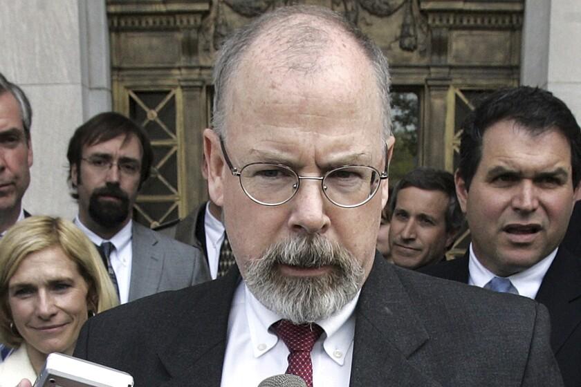 U.S. Atty. John Durham speaks to reporters in 2006.