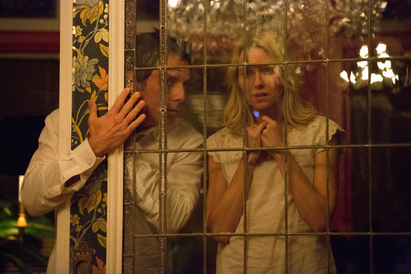 """Ben Stiller, left, and Naomi Watts in """"While We're Young."""""""
