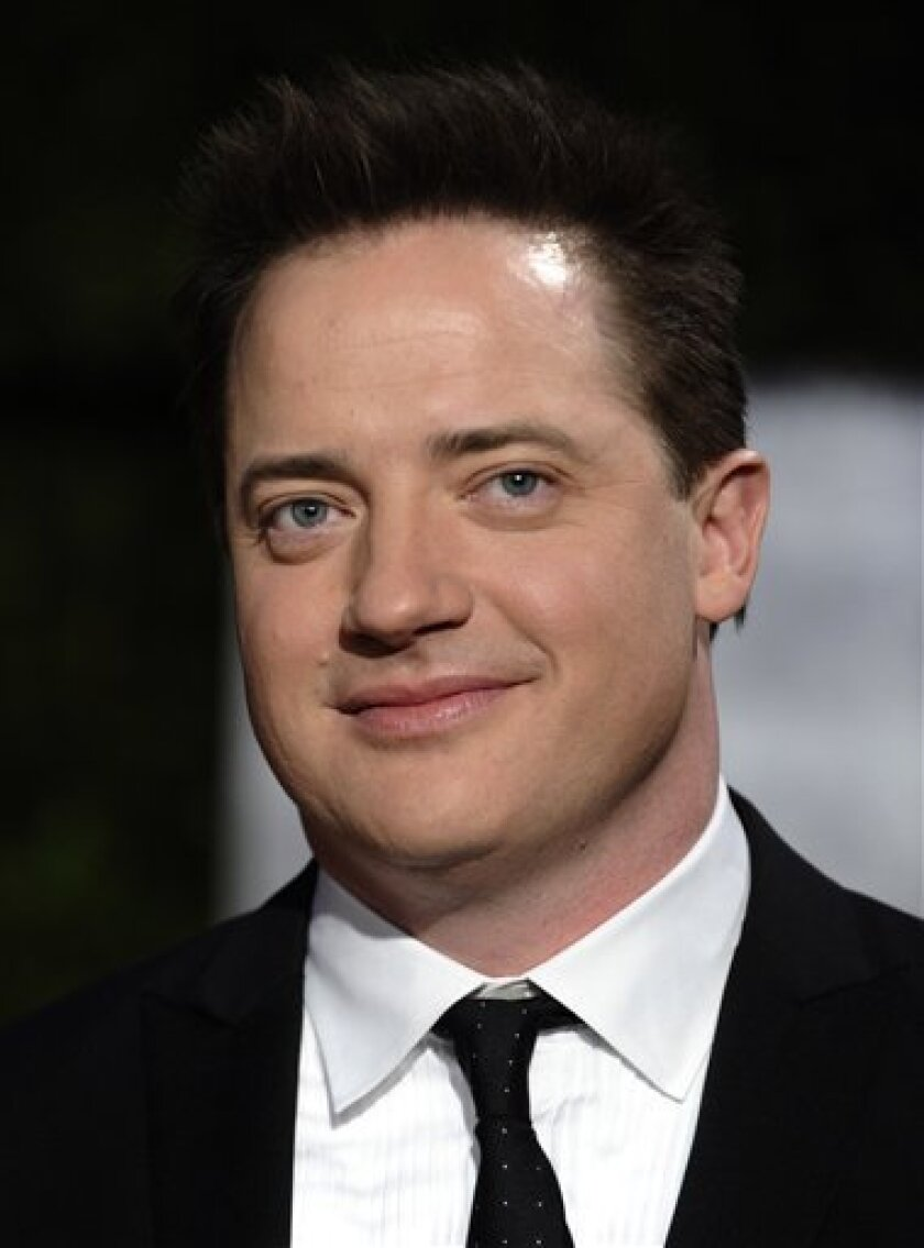 FILE - In this March 7, 2010 file photo, Brendan Fraser arrives at the Vanity Fair Oscar party in West Hollywood, Calif. (AP Photo/Peter Kramer, file)