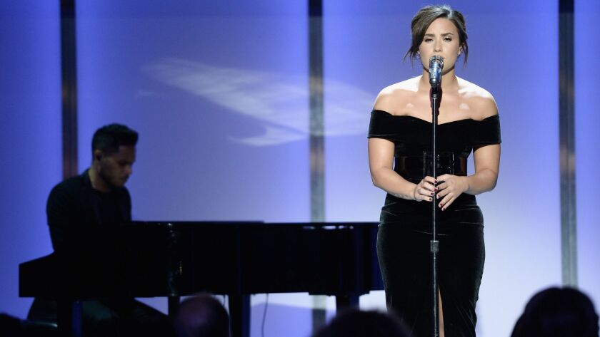Demi Lovato performs during Glamour Women of the Year 2016 in Los Angeles.