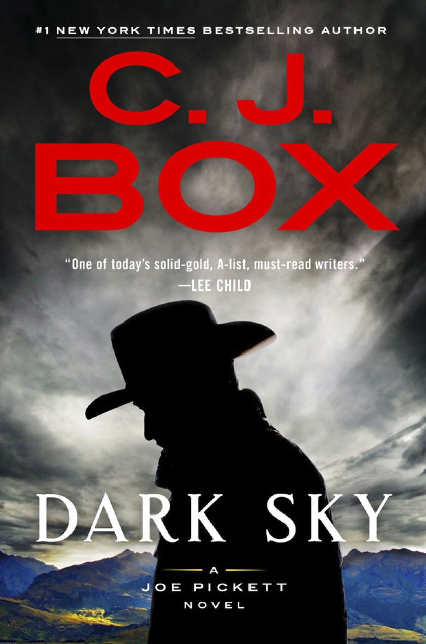 """This cover image released by G.P. Putnam's Sons shows """"Dark Sky"""" by C.J. Box. (G.P. Putnam's Sons via AP)"""