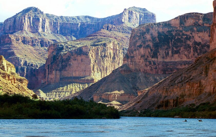 FILE - This Aug. 29, 2002 file photo, shows the Colorado River at the Grand Canyon National Park, in Arizona. The National Park Service has outlined a series of actions in response to a federal report that found employees at the Grand Canyon preyed on their female colleagues and retaliated against