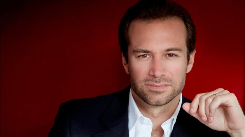 """Color portrait of Fabien Gabel, who will conduct the San Diego Symphony's """"Russia and France"""" progra"""