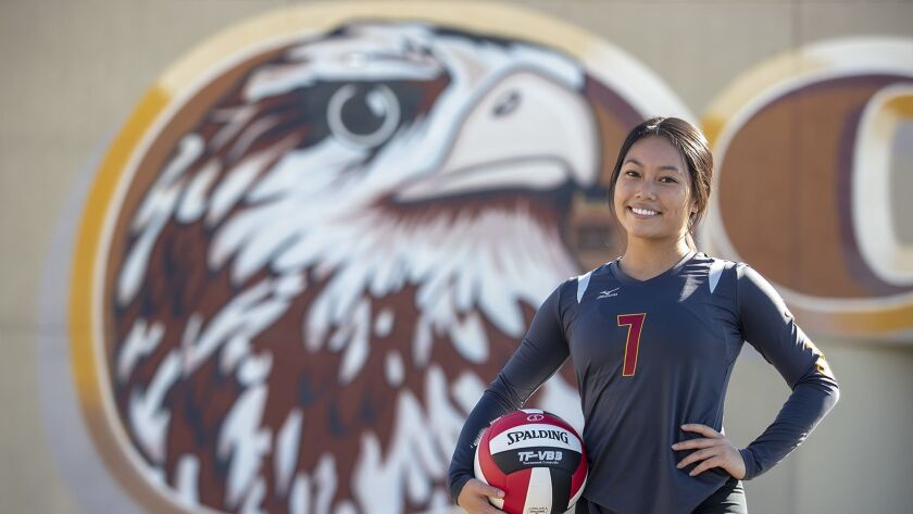 Ocean View girls' volleyball senior libero Kelli Greiner is the High School Female Athlete of the We