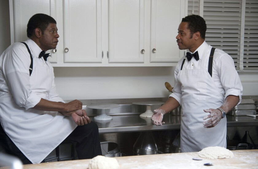 """Forest Whitaker and Cuba Gooding Jr. in the movie """"The Butler."""""""